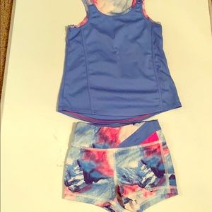 Girls workout fit